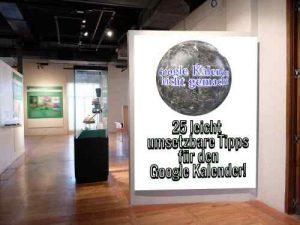 video kurs zu google kalender